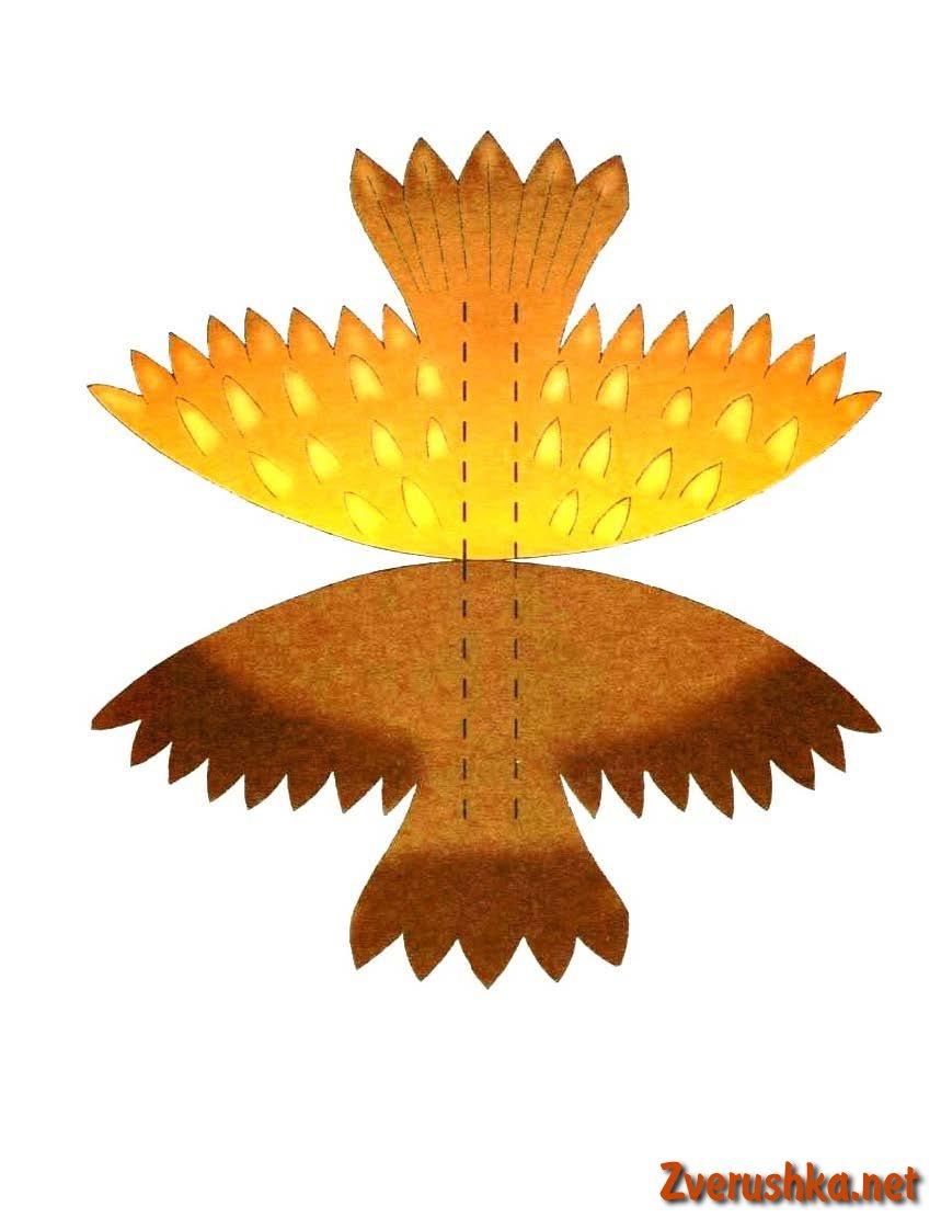 Играчка от хартия Сова с лампа