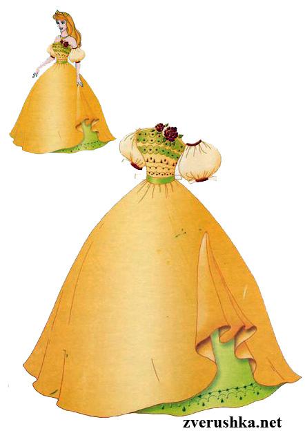 Обличане на кукли. Принцеса Аврора.