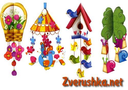 Развиващи играчки от хартия за най-малките деца.