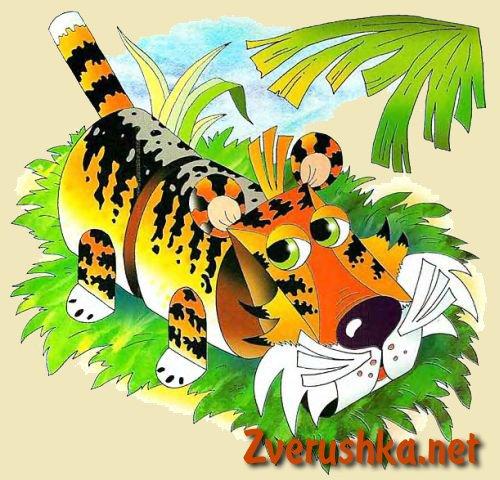 Хартиена играчка тигър.