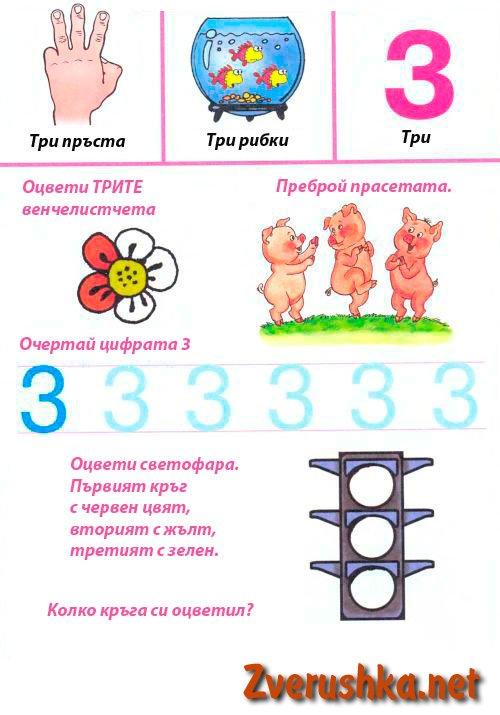 Учим цифрите.