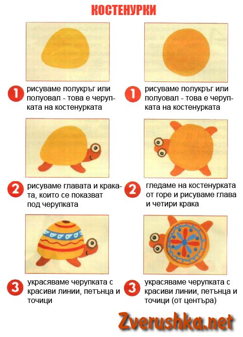 Рисуване на костенурки