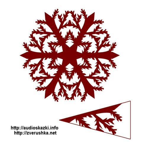 шаблони на снежинки