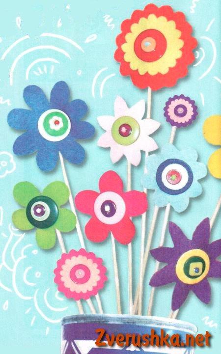 Цветя от филц