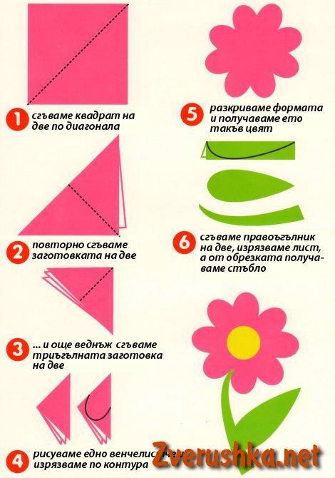 Апликация цветя