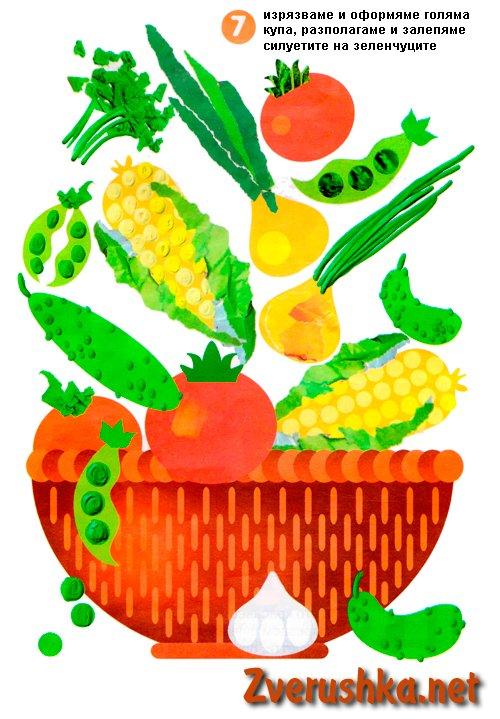 апликация с зеленчуци