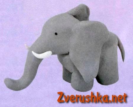 Слон от пластилин