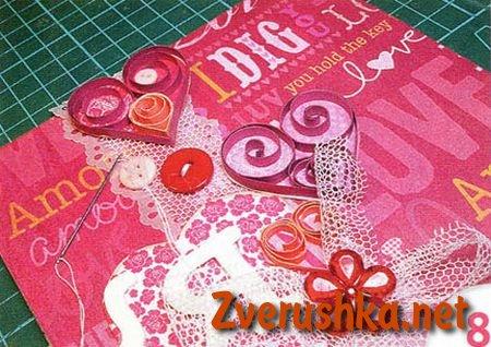 Поздравителна картичка-валентинка