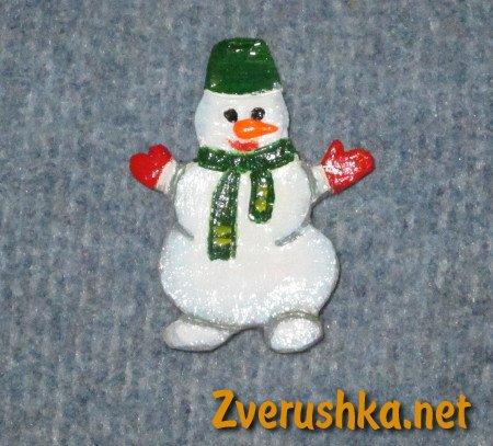 Магнит снежен човек