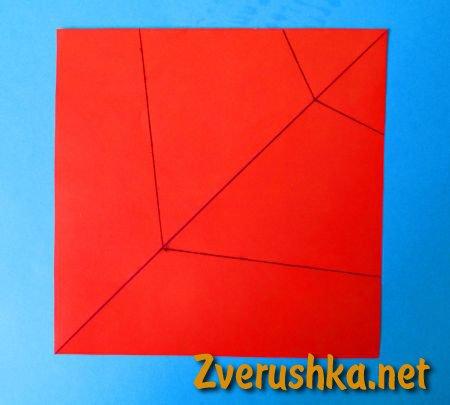 оригами кораб