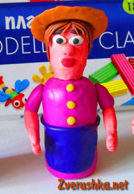 кукла от пластилин