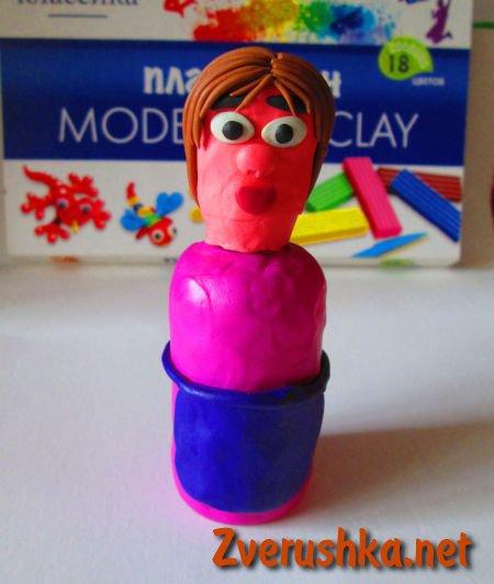 как да направим кукла от пластилин