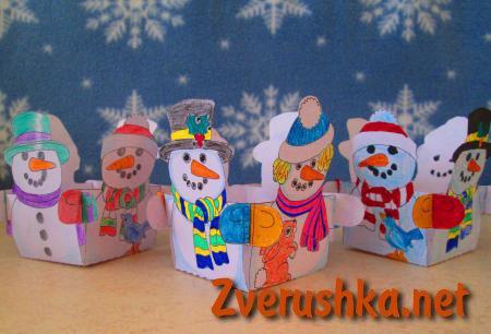 Кутийка снежен човек