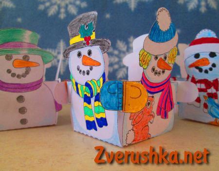 Кутийка снежени човеци