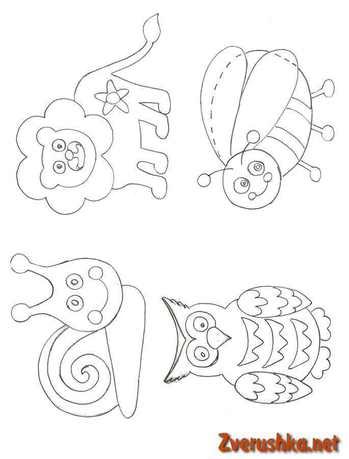 шаблон за животни от фоамиран