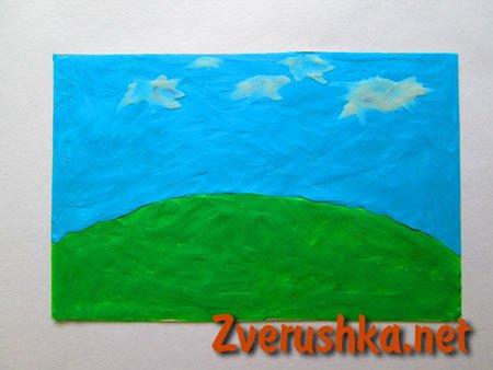 фон, рисунка с пластелин