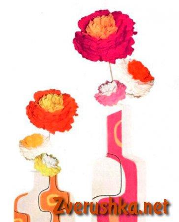 Цветя от салфетки