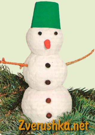 Коледна играчка снежен човек.