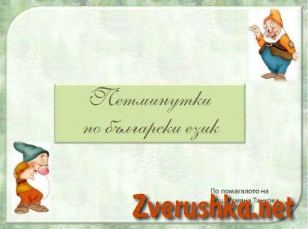 Презентация, Пет минути по български език